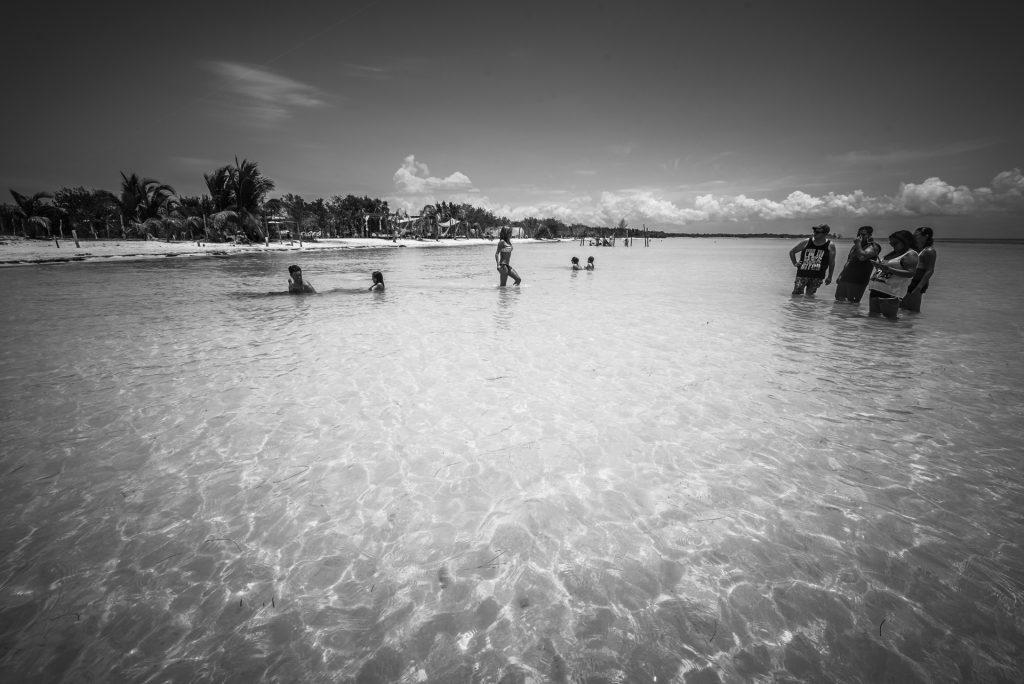 Dock in a beach of Isla Holbox, Quintana Roo (Mexico)